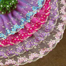 2 Yards Embroidery Lace Trim Mesh Ribbon Clothing Dress Edge