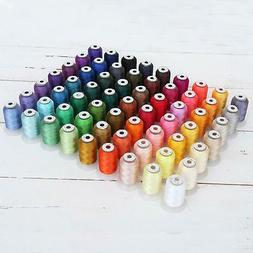 Threadart 63 Spool Brother Colors Polyester Embroidery Machi