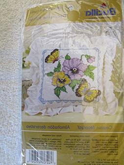 Bucilla 65524 Stamped Cross Stitch Kit Butterflies/Flowers P