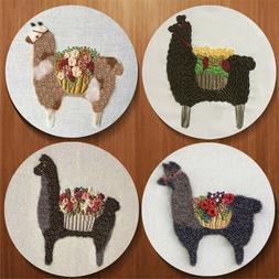 Alpaca Embroidery Starter Cross Stitch Kits Sewing Craft at