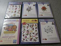 Amazing Designs Embroidery: Nancy Zieman LOT OF 5 CD-ROM AND