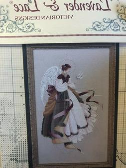 "Lavender & Lace ~ ""Angel of Brace"" - Cross Stitch Chart  Pat"