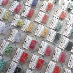 Mill Hill Antique Seed Beads, 2.63 grams, Over 50 Colors To