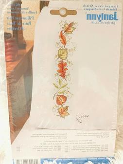 "Janlynn ""Autumn Leaves"" Stamped Cross Stitch Pillowcase"