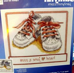 Janlynn Baby Shoes - Boy or Girl - Counted Cross Stitch Kit