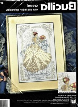 Bucilla BETROTHED IN BEAUTY Crewel Embroidery Kit by Barbara