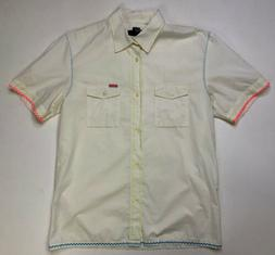 Diesel Button Down Shirt Men's Adult XL Short Sleeve Pocke