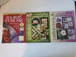 Clothing Embroidery Craft Books Lot of Three 3 - NICE - FREE