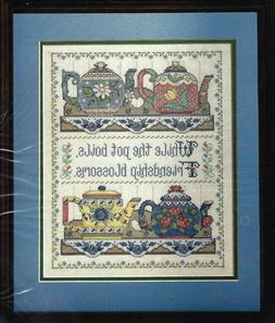 COLLECTIBLE TEAPOTS - Counted Cross Stitch Kit - BUCILLA - F