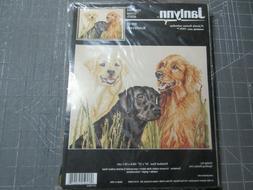 Janlynn Counted Cross Stitch Kit  RETRIEVERS #58-05 Dogs Spo