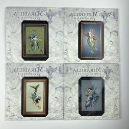 Mirabilia Cross Stitch Charts/Patterns Mermaid Lot of 4 Used