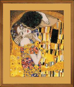 "Cross Stitch Kit RIOLIS 1170 - ""The Kiss after G. Klimt's Pa"
