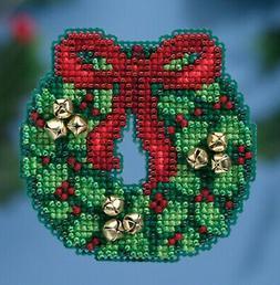 Cross Stitch Kit ~ Mill Hill 2016 Winter Holiday Jingle Bell