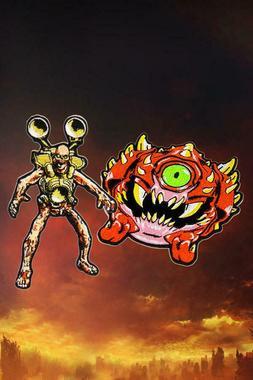Doom Eternal Revenant + Cacodemon Demon Embroidery Patch Iro