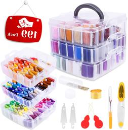 Embroidery Floss Friendship Bracelet String with Organizer,
