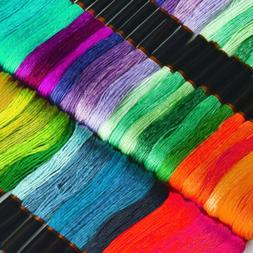Embroidery Floss Rainbow Color 150 Skeins Per Pack Cross Sti