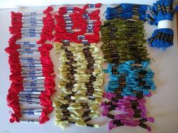 Embroidery Thread Floss Peri Lusta Bucilla Lot Skeins Red Bl
