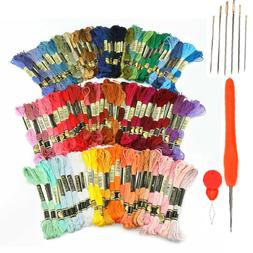 Embroidery Thread - Full 120 Colors Embroidery Floss Skeins