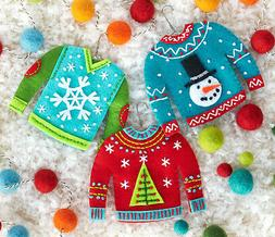 Felt Embroidery / Applique Kit ~ Dimensions Sweater Ornament