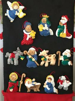 Bucilla Finished Ornaments.  Away In the Manger