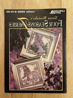 Leisure Arts -  Four Seasons Faeries - Cross Stitch leaflet
