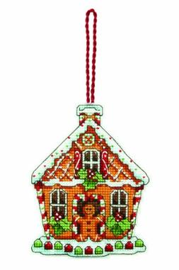 Dimensions Gingerbread House Counted Cross Stitch Kit 3.25 i