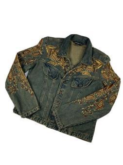 Gordon And James Vintage Denim Jacket Embroidery Size Small