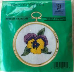 Graphworks Pansy DMC  Embroidery Kit  Graph Works