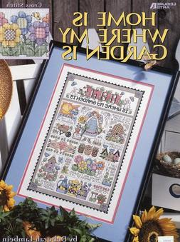 Home Is Where My Garden Is LA3126 Cross Stitch Pattern Bookl