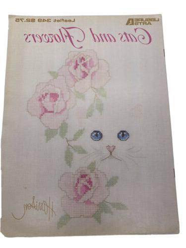 0349 cats and flowers 4 cross stitch