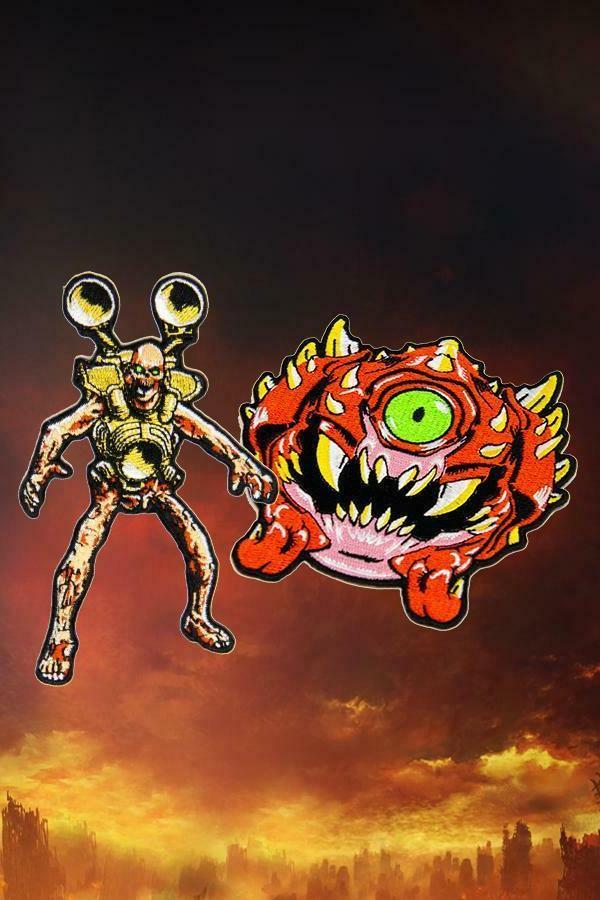 doom eternal revenant cacodemon demon embroidery patch