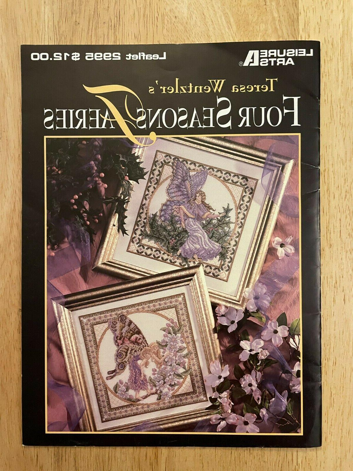 four seasons faeries cross stitch leaflet teresa