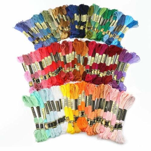 lot 100 multi colors cross stitch floss