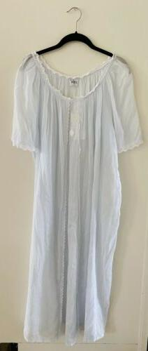 Celestine Nightgown New With Tags $338 Blue Eyelet Embroider