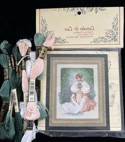 "Lavender & Lace ""Lady Claire"" Cross Stitch Pattern L&L45 w E"