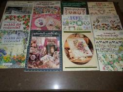 Lot 12 Ribbon Embroidery Books & Pamphlets Silk Floral Borde