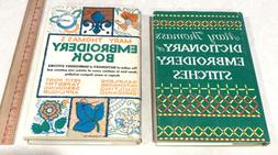 LOT OF 2 Mary Thomas's Embroidery Books Applique, Quilting,