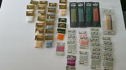 Lot of 47 Assorted Types Bucilla Silk Ribbon Embroidery Flos
