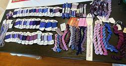 Lot of 92 MISCELLANEOUS PURPLE Needlepoint THREADS-Rainbow G