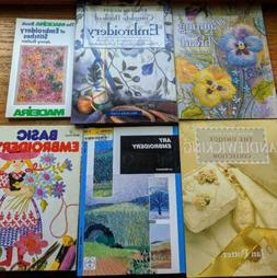 Lot of EMBROIDERY Books #1 Six Needlework Books