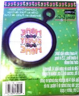 """Mary & Co Small Cross Stitch 3.25"""" hoop """"Home Sweet Home"""""""