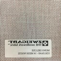 Needlepoint Canvas Mono Deluxe 14 Mesh White Custom Cuts Ava