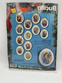 NEW CROSS STITCH KIT BUCILLA CELESTIAL ANGELS 12 ORNAMENTS 8