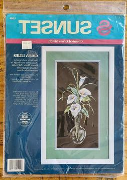NEW NIP Dimensions Sunset Counted Cross Stitch Calla Lilies