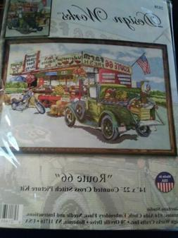 NEW Design Works 'ROUTE 66' COUNTED CROSS STITCH KIT #2938 F