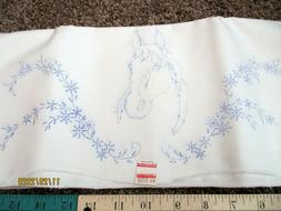 Pair Pillowcases Embroidery Needlecraft Needlework Craft Fab