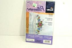 Bucilla Pillowcases, Embroidery Kit, Lace Floral Garland, Ne