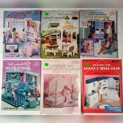 Plastic Canvas Fashion Doll Accessory Instruction Books Lot