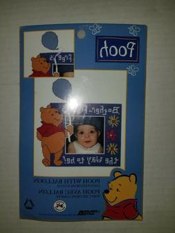 """""""POOH WITH BALLOONS Picture Frame"""" cute Counted Cross Stitch"""