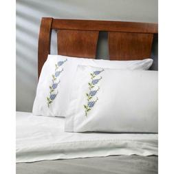 BUCILLA Premium Pillow Cases 2pk for Stamped Embroidery FORG